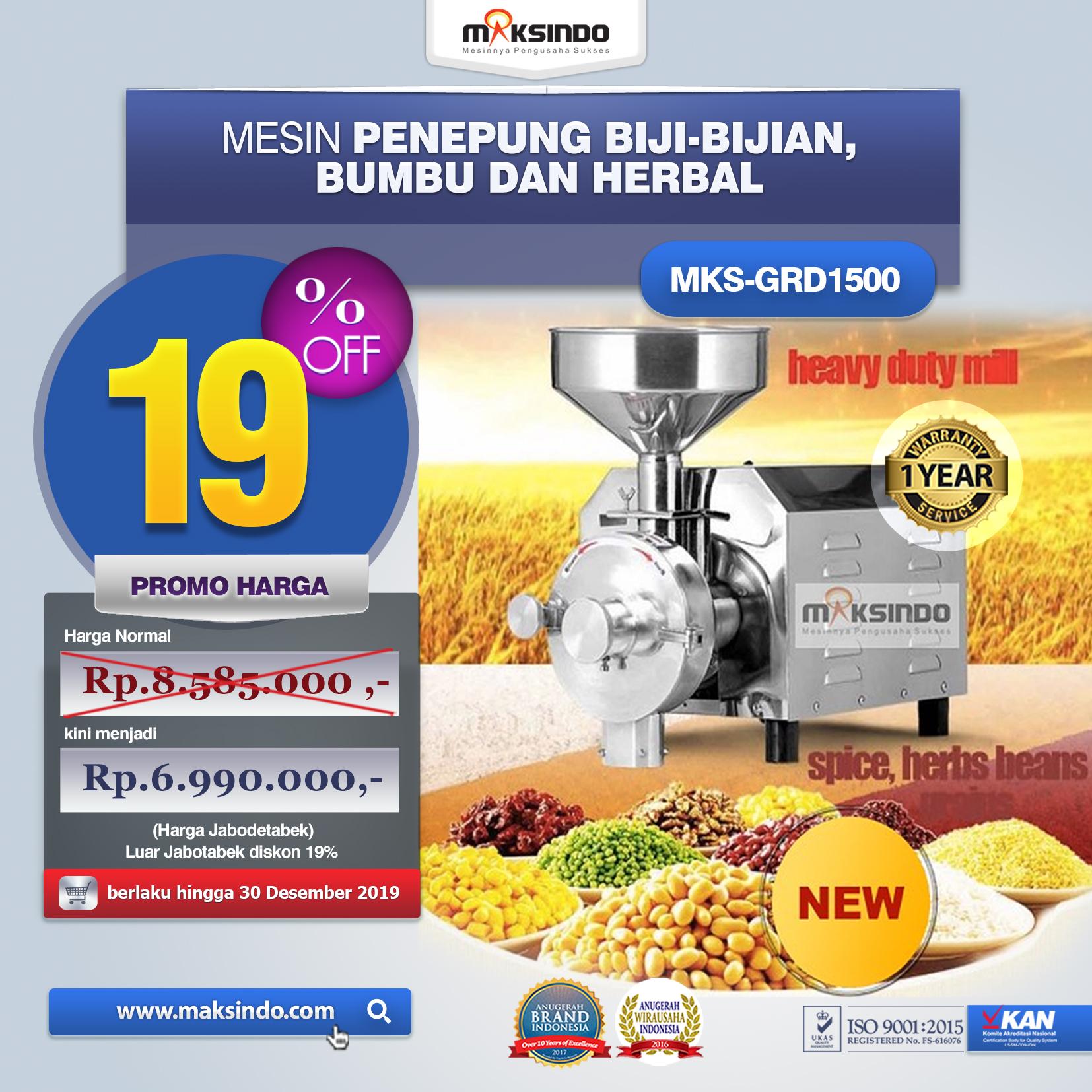 Jual Mesin Penepung Biji-Bijian, Bumbu dan Herbal (GRAIN GRINDER) di Bali