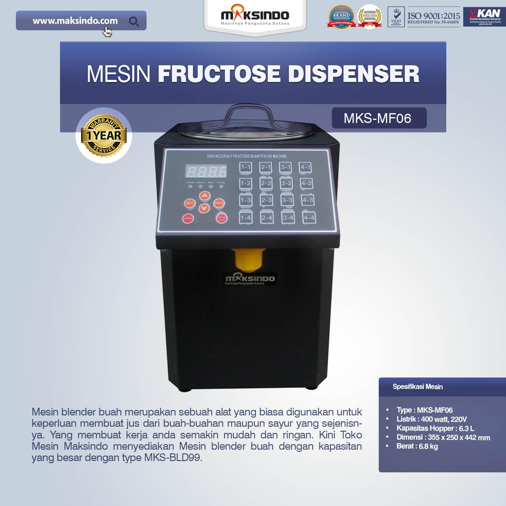 Jual Mesin Fructose Dispenser MKS-MF06 di Bali