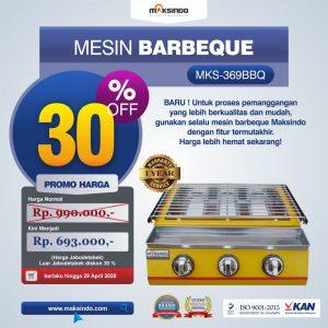 Jual Mesin Pemanggang Sate – BBQ 3 Tungku (Gas) MKS-369BBQ di Bali
