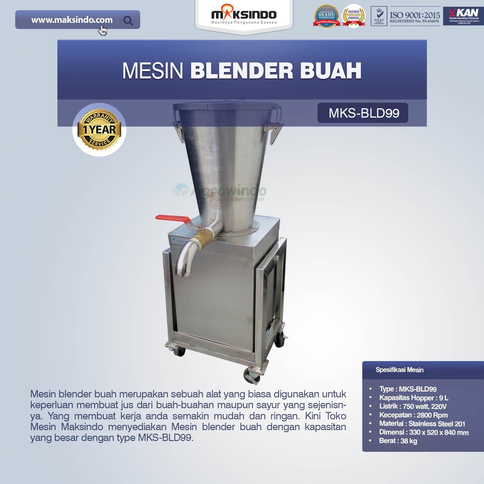 Jual Mesin Blender Buah MKS-BLD99 di Bali