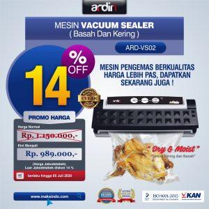 Jual Mesin Vacuum Sealer VS02 Ardin (basah dan kering) di Bali