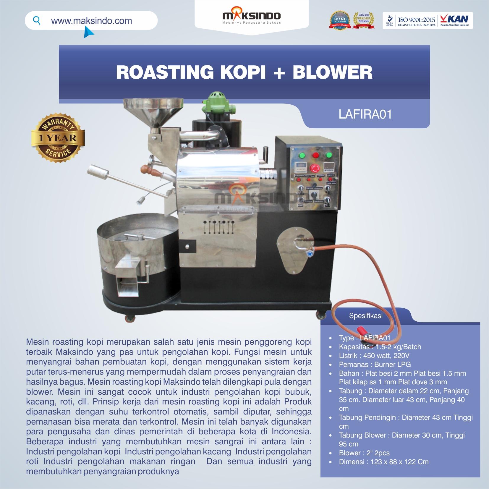 Jual Roasting Kopi + Blower LAFIRA01 di Bali