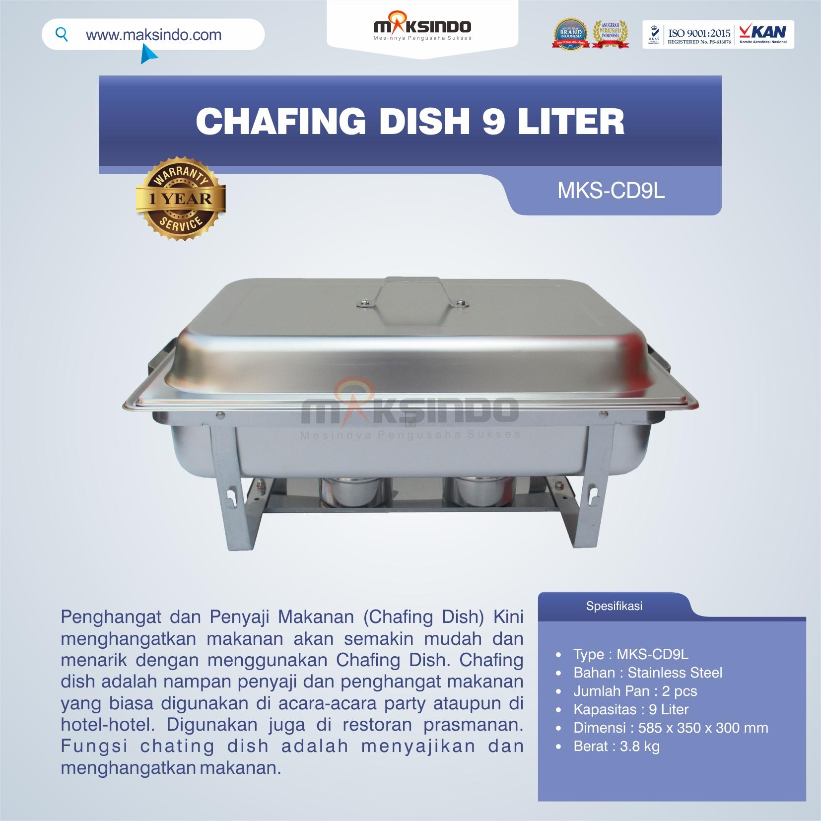 Jual Chafing Dish 9 Liter di Bali