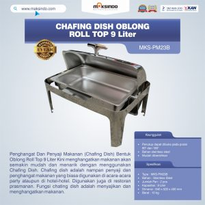 Jual Chafing Dish Oblong Roll Top – 9 Liter di Bali