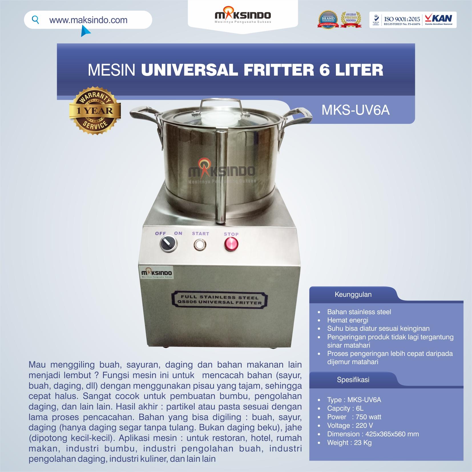 Jual Universal Fritter 6 Liter (MKS-UV6A) di Bali