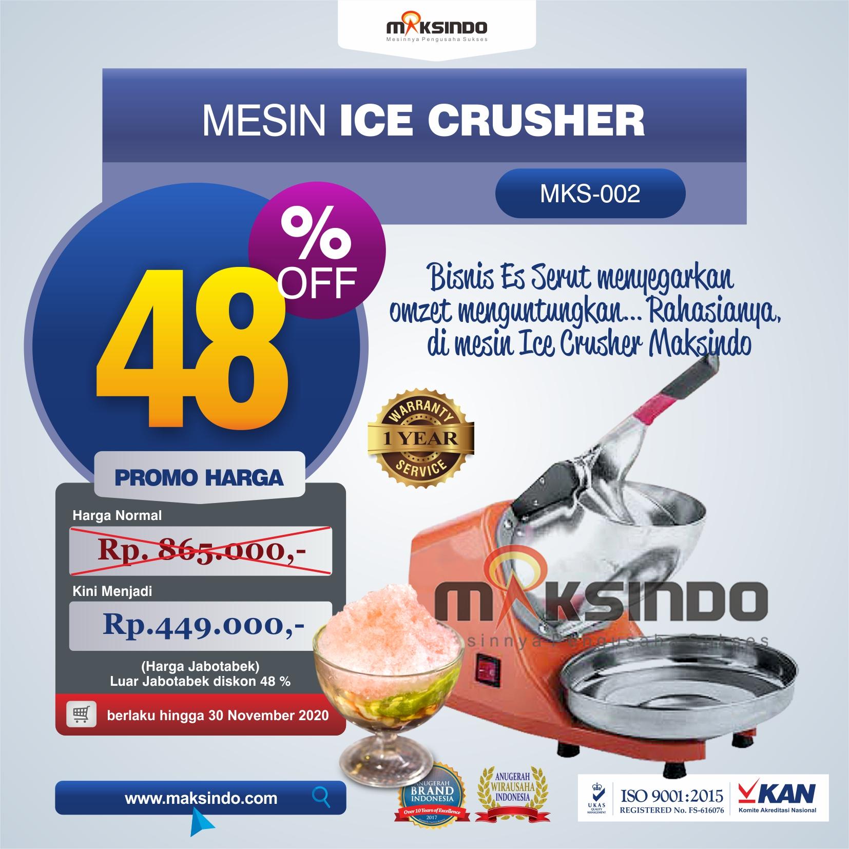 Jual Mesin Ice Crusher di Denpasar, Bali