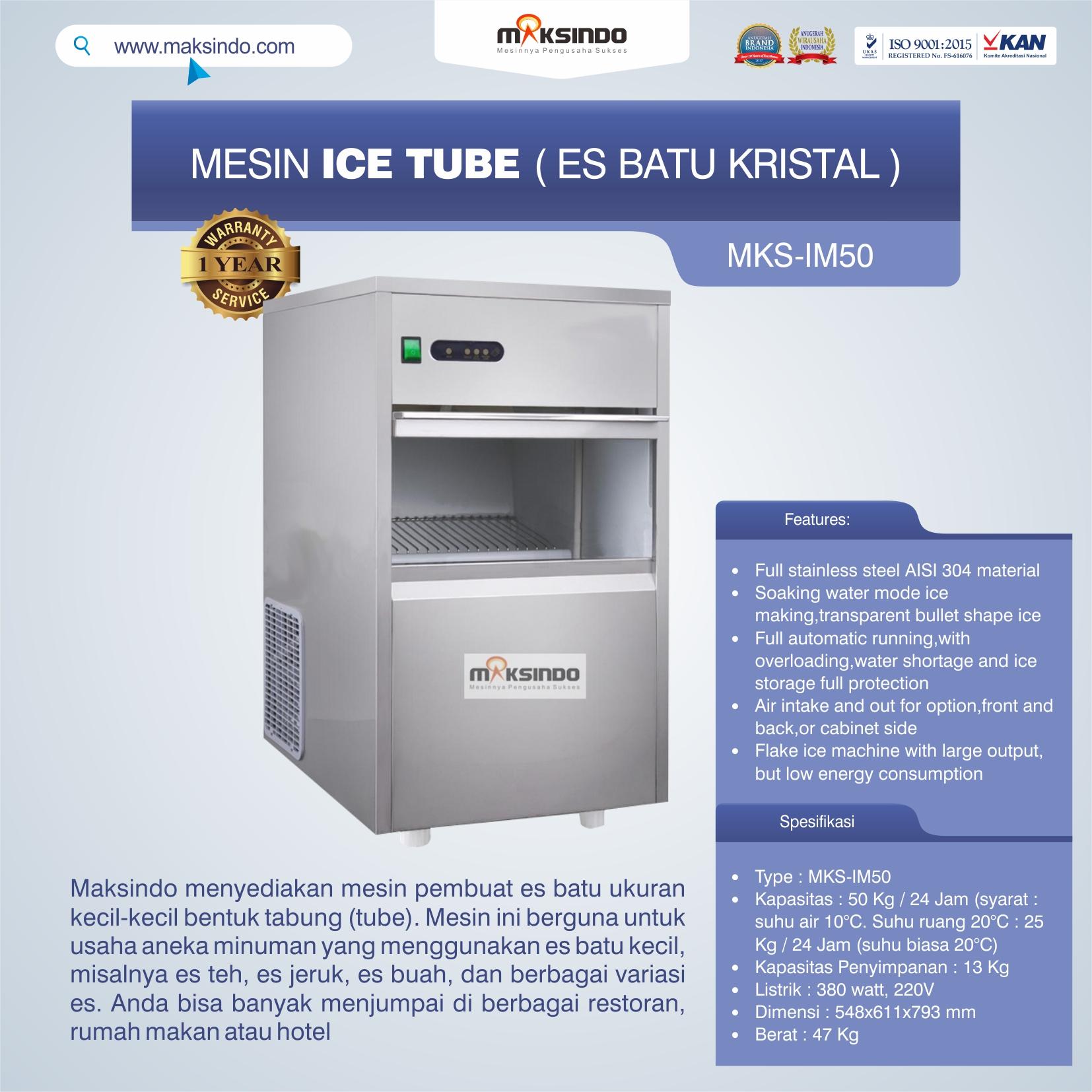 Jual Mesin Ice Tube (Es Batu Kristal) di Bali