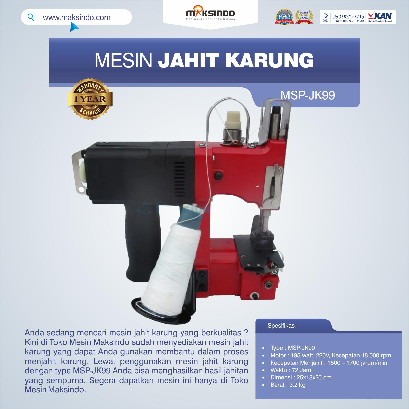 Jual Mesin Jahit Karung MSP-JK99 di Bali