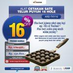 Jual Alat Cetakan Sate Telur Puyuh 16 Hole Ardin TYK-16 di Denpasar