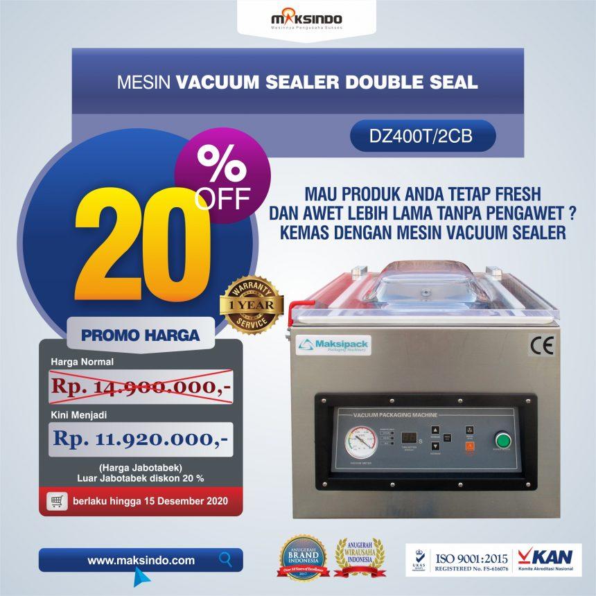 Jual Vacuum Sealer Double Seal DZ400T/2CB Di Bali