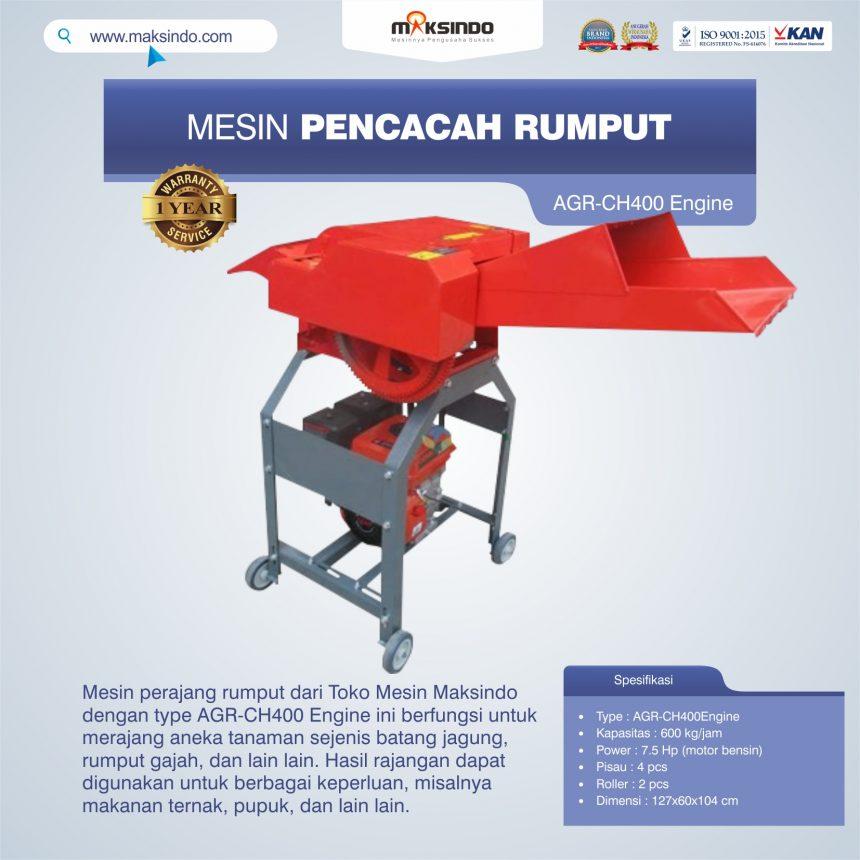 Jual Mesin Pencacah Rumput AGR-CH400 Engine di Bali