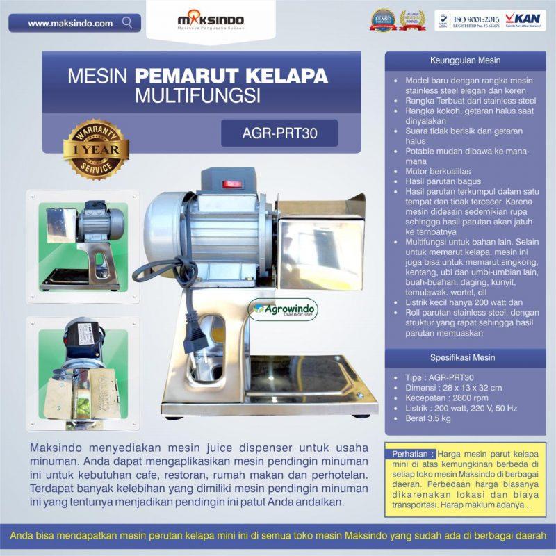 Jual Mesin Pemarut Kelapa Multifungsi AGR-PRT30 di Bali