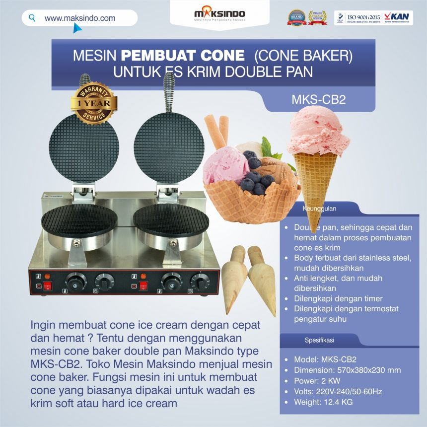 Jual Pembuat Cone Ice Cream (CB2) di Bali
