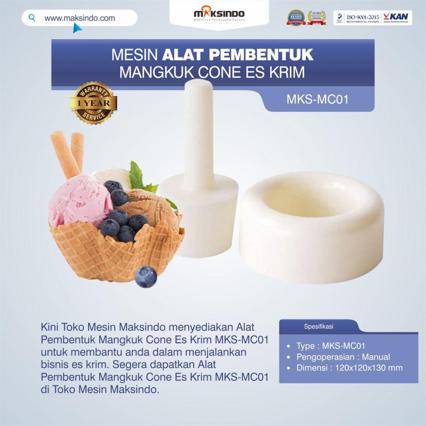 Jual Alat Pembentuk Mangkuk Cone Es Krim MKS-MC01 di Bali