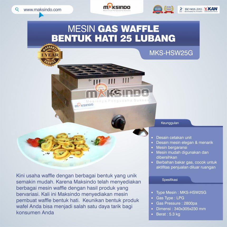 Jual Gas Waffle Bentuk Hati 25 Lubang MKS-HSW25G di Bali