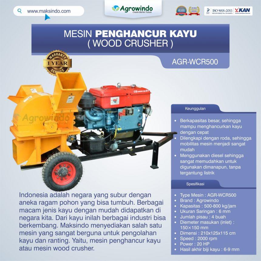 Jual Mesin Penghancur Kayu (wood crusher) AGR-WCR500 di Bali