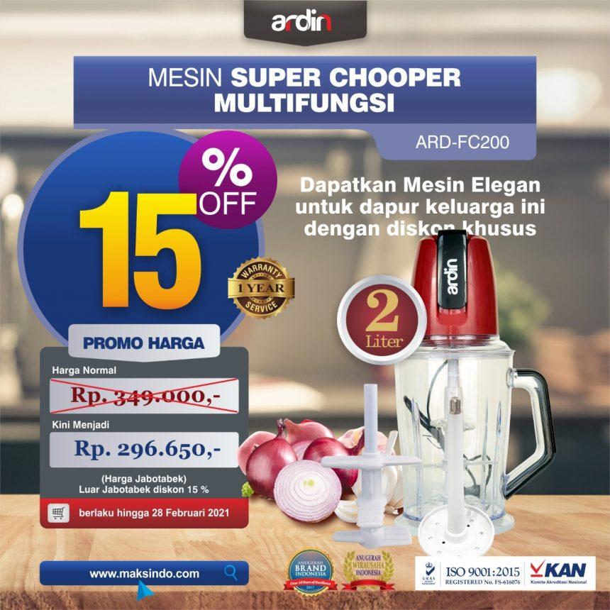 Jual Mesin Food Chopper Ardin Multi Fungsi ARD-FC200 di Bali