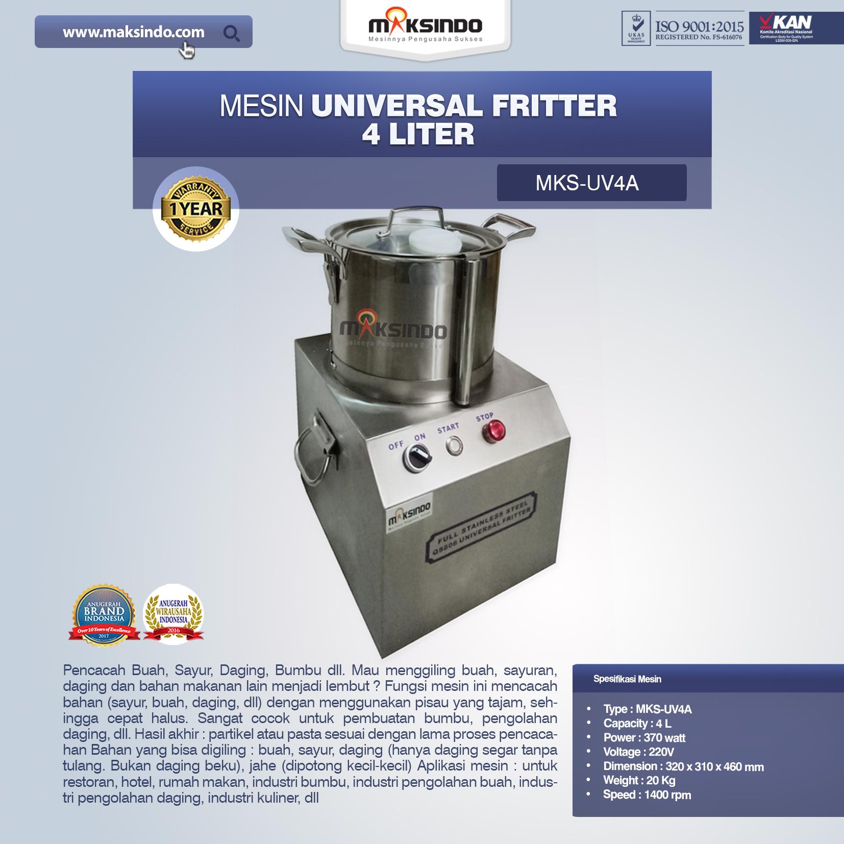 Jual Universal Fritter 4 Liter (MKS-UV4A) di Bali