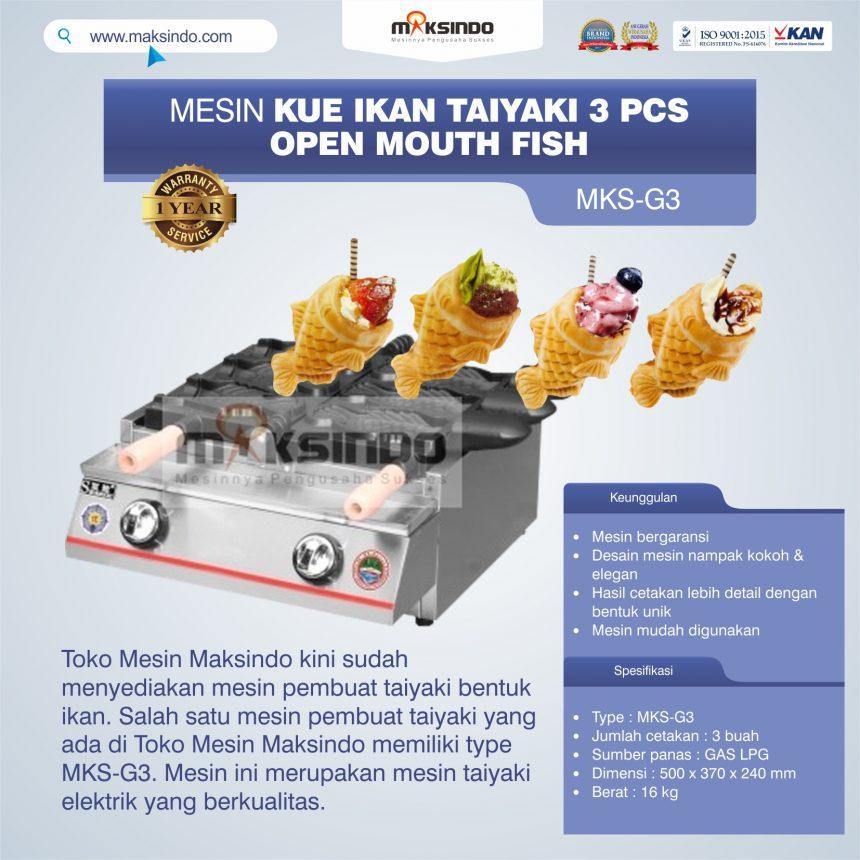 Jual Mesin Kue Ikan Taiyaki (3 pcs) – Open Mouth Fish di Bali