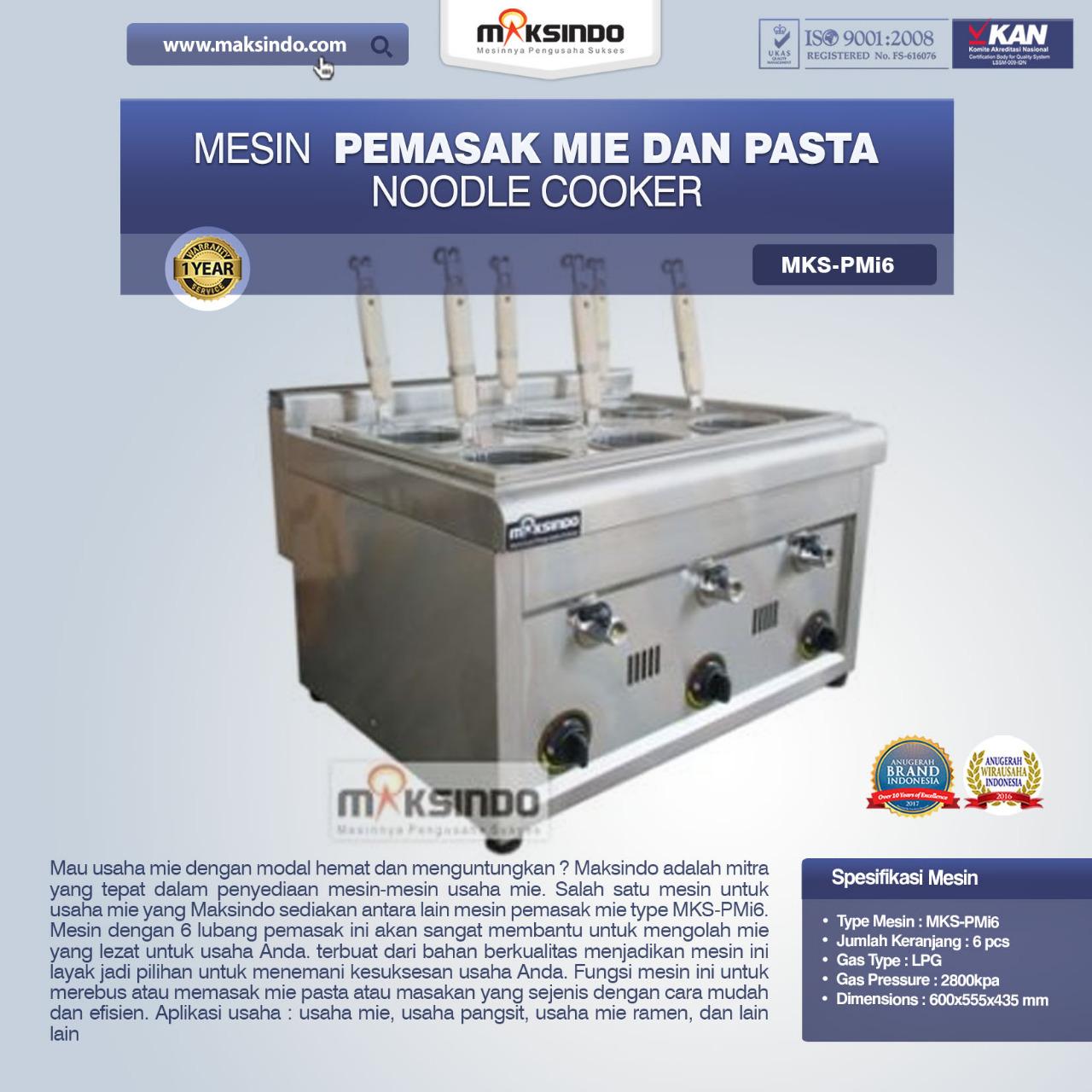 Jual Noodle Cooker (Pemasak Mie Dan Pasta) MKS-PMI6 di Bali