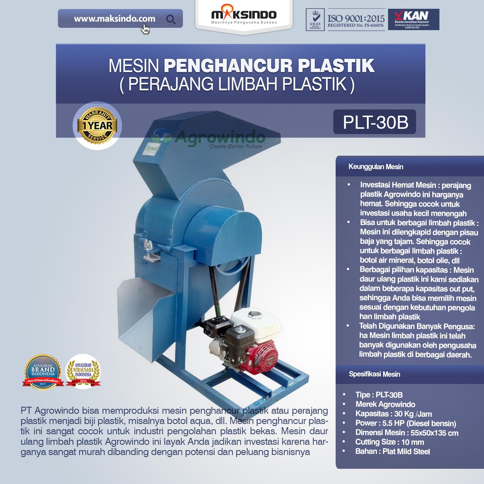 Jual Mesin Penghancur Plastik di Denpasar, Bali