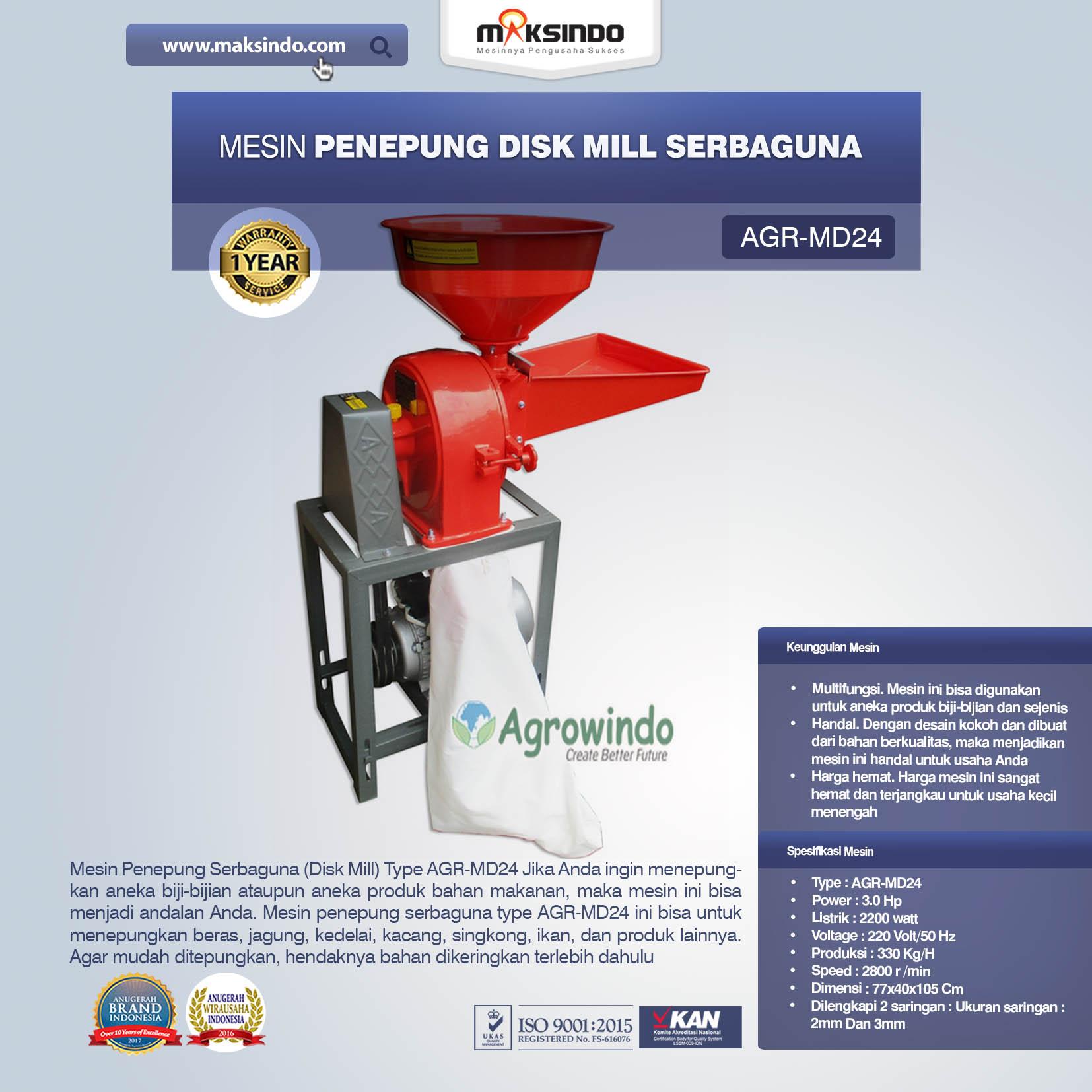 Jual Penepung Disk Mill Serbaguna (AGR-MD24) di Bali