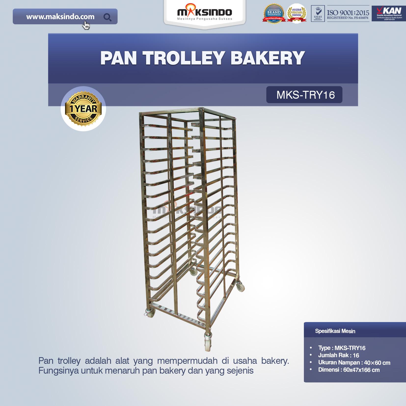 Jual Pan Trolley Bakery (MKS-TRY16) di Bali