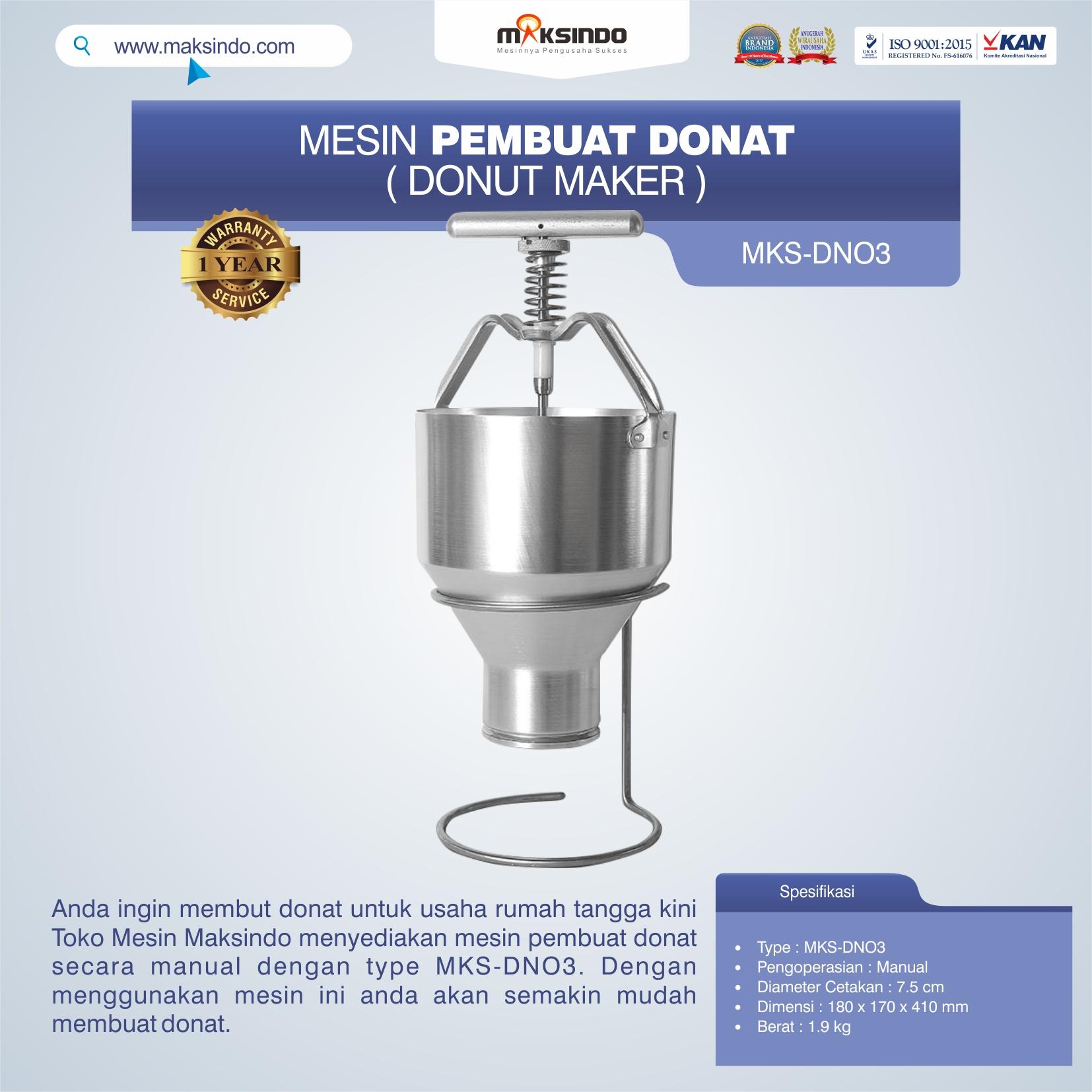 Jual Mesin Pembuat Donat (Donut Maker) MKS-DN03 di Bali