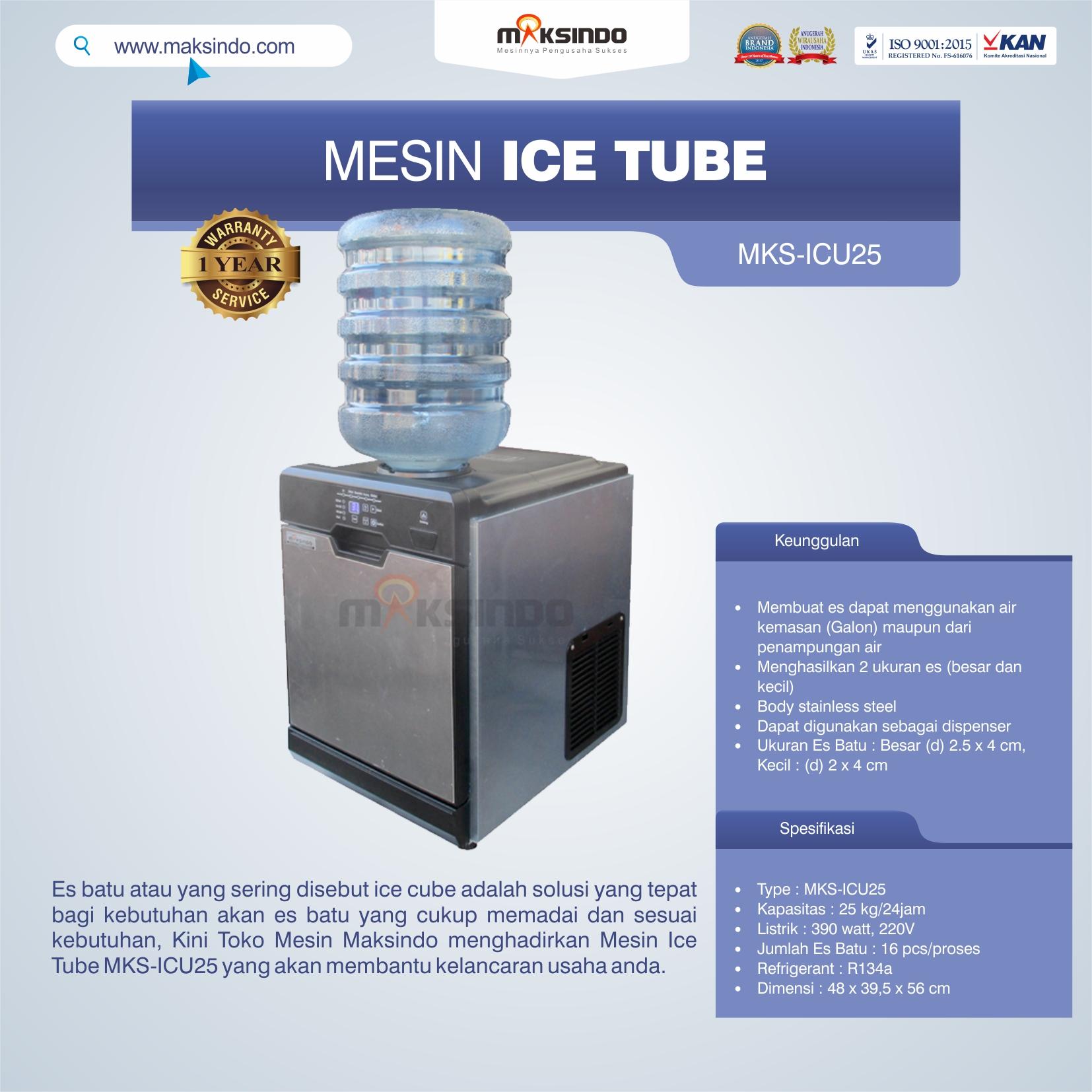 Jual Mesin Ice Tube MKS-ICU25 di Bali