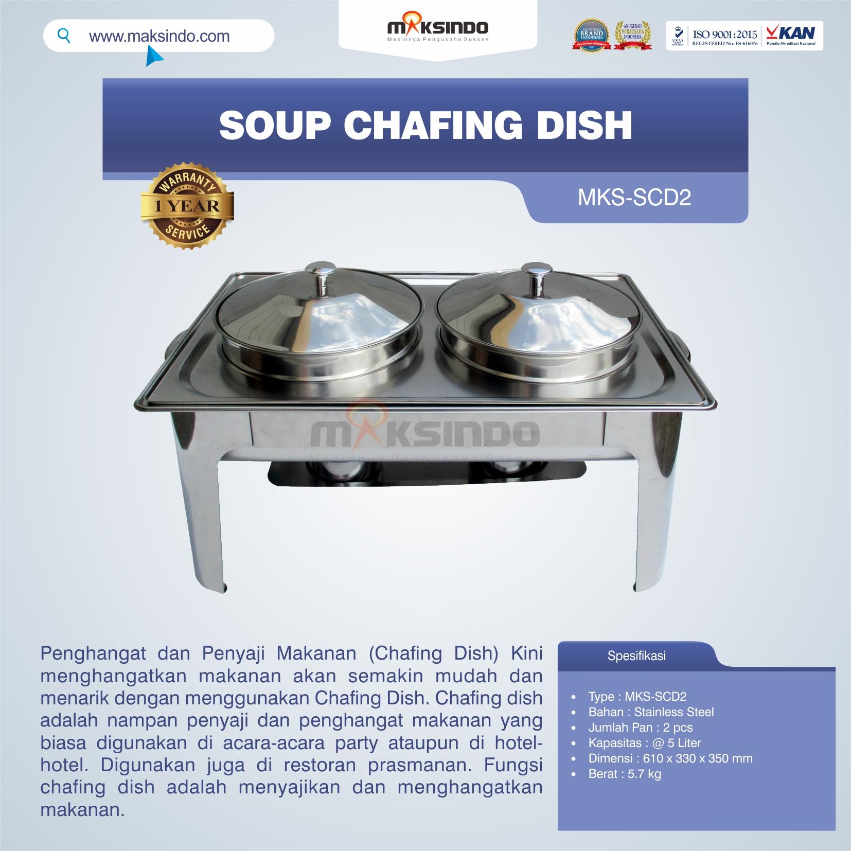 Jual Soup Chafing Dish MKS-SCD2 di Bali