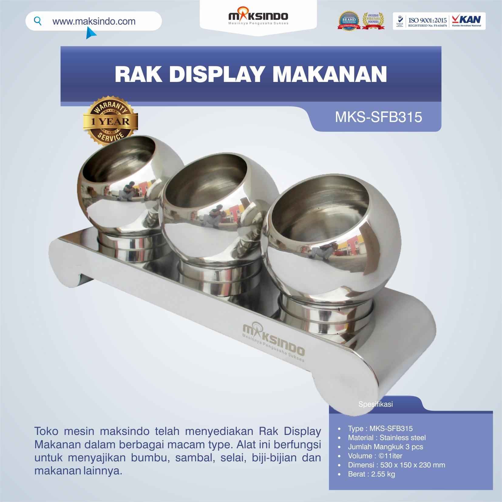 Jual Rak Display Makanan MKS-SFB315 di Bali