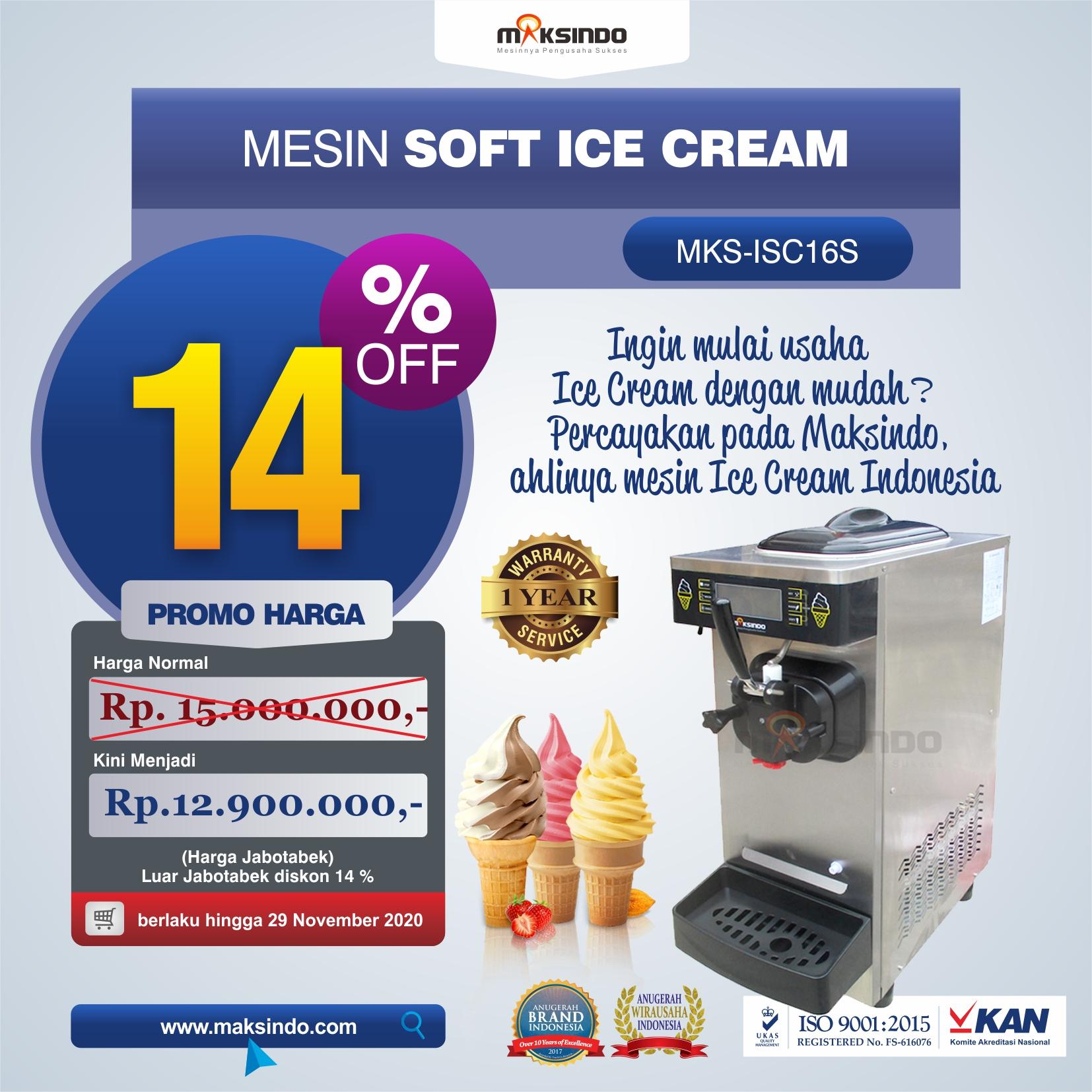 Jual Mesin Soft Ice Cream ISC-16S di Bali