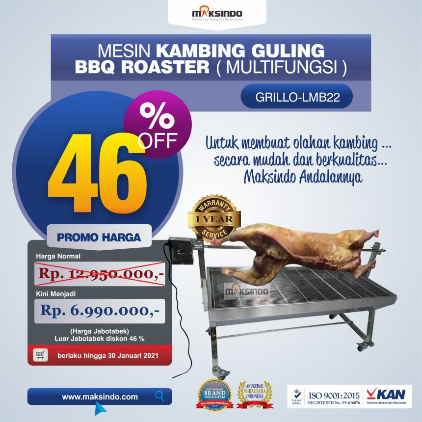 Jual Mesin Kambing Guling BBQ Roaster (GRILLO-LMB22) di Bali