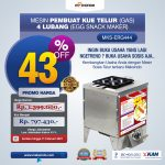 Jual Mesin Pembuat Egg Roll (Gas) 4 Lubang MKS-ERG444 di Bali