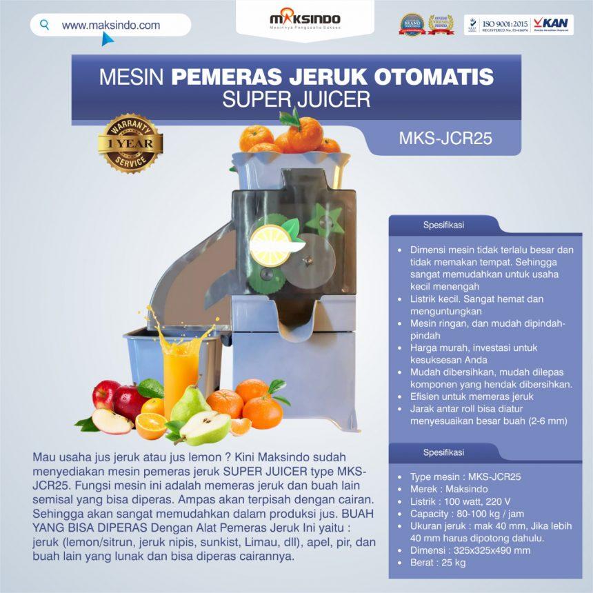 Jual Mesin Pemeras Jeruk Otomatis Super Juicer MKS-JCR25 di Bali