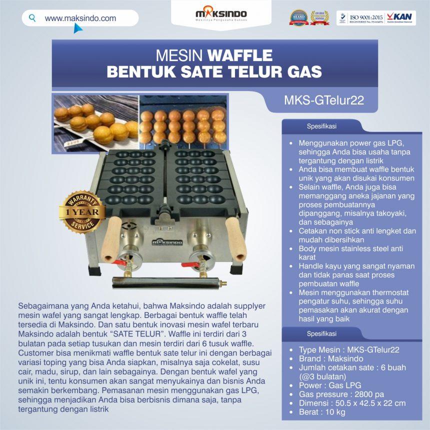 Jual Mesin Waffle Bentuk Sate Telur GAS – MKS-GTelur22 di Bali