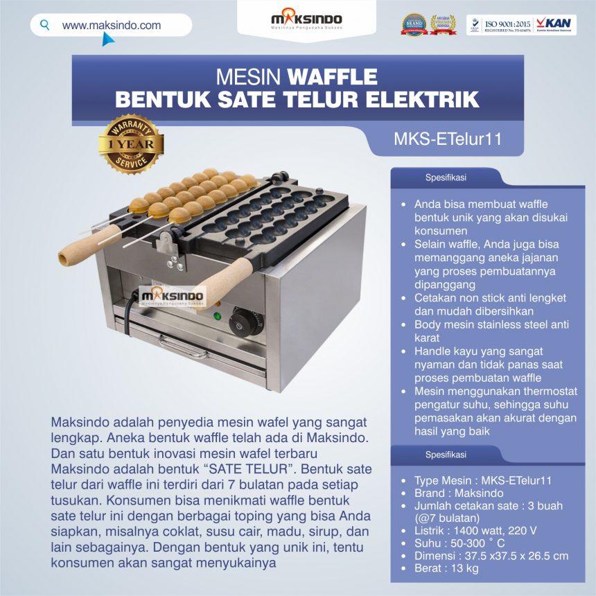 Jual Mesin Waffle Bentuk Sate Telur Elektrik – MKS-ETelur11 di Bali
