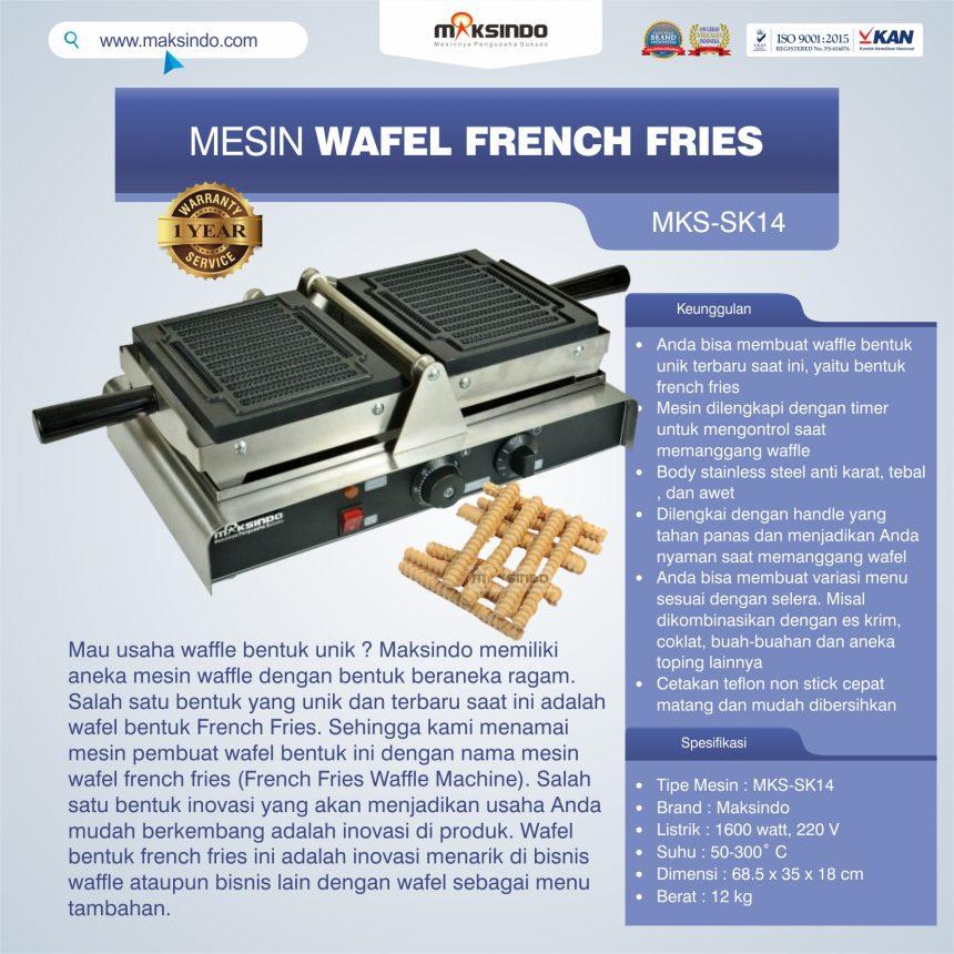 Jual Mesin Wafel French Fries MKS-SK14 Maksindo di Bali