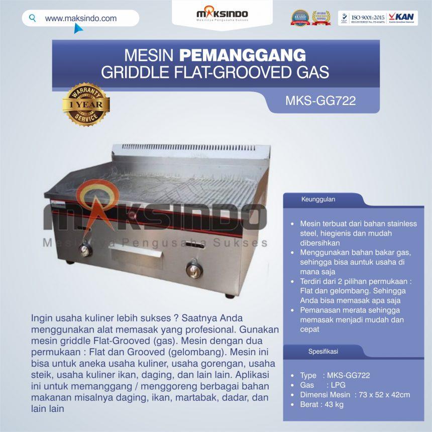 Jual Pemanggang Griddle Flat-Grooved Gas (GG722) di Bali