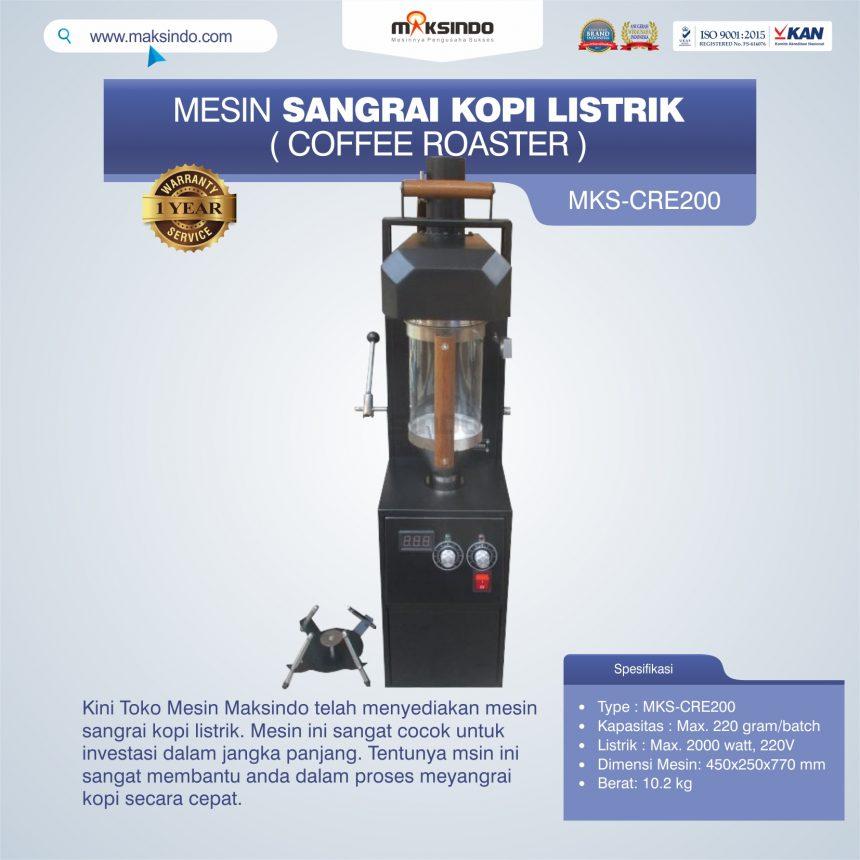 Jual Mesin Sangrai Kopi Listrik (Coffee Roaster) MKS-CRE200 di Bali